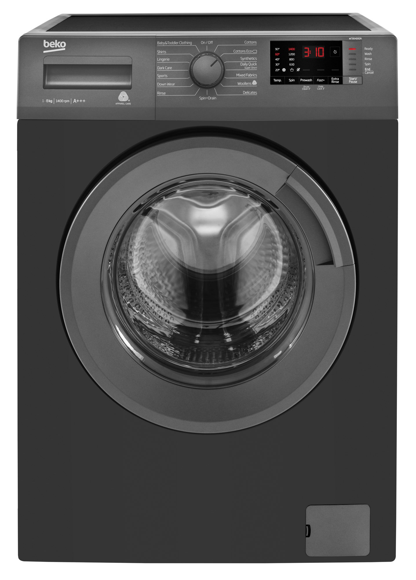 Beko_WashingMachine_WTB841R2A_Anthracite_FrontClosed